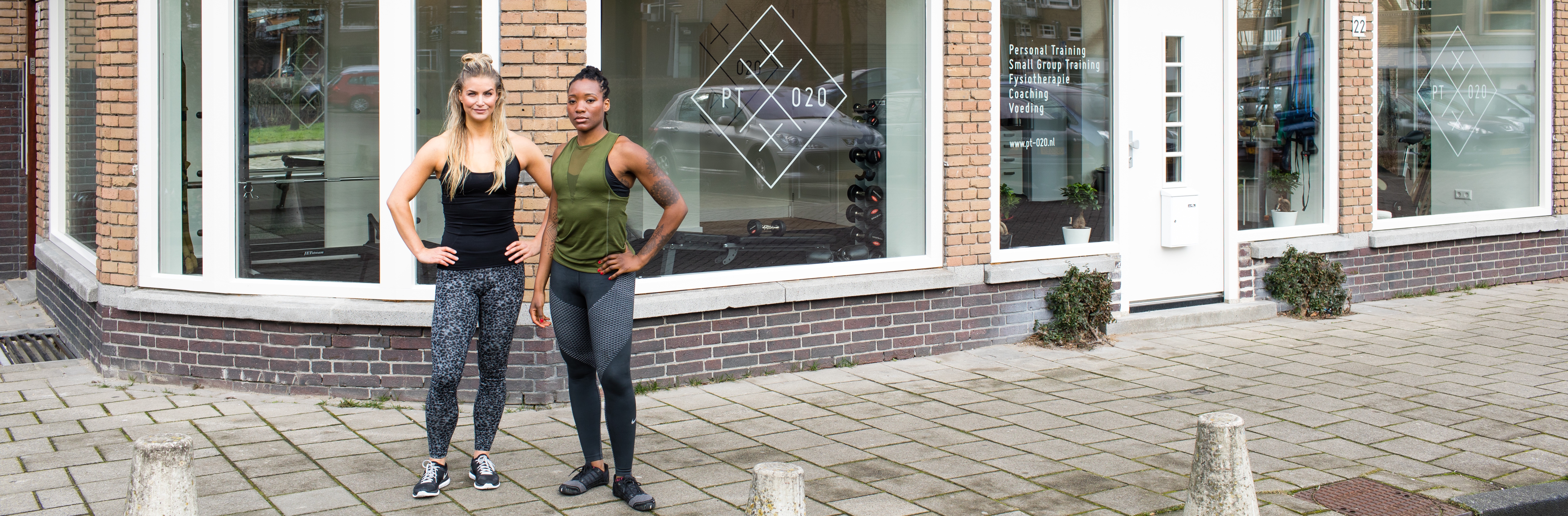 personal trainers Noémia Grot & Ginger Guttmann founders & owners of PT020